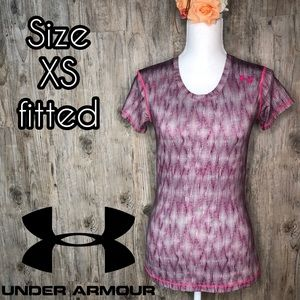 Under Armour pink fitted short sleeve T-shirt